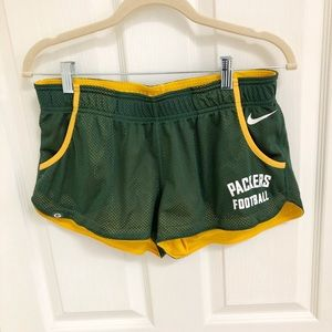 NFL TEAM Apparel Dri-fit Packer Track Shorts